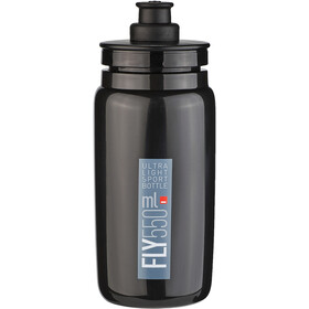 Elite Fly Trinkflasche 550ml black/grey logo
